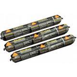 Клей герметик для швов 600мл.Sikaflex черный под пистолет (колбаса)