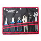Инстр. Набор шарнирно-губцевого инструмента 6 пр.(бокорезы,плоскогубцы,утконосы,зажим гейферный,пассатижи преставные,ключ разводной) Forsage F-50614A